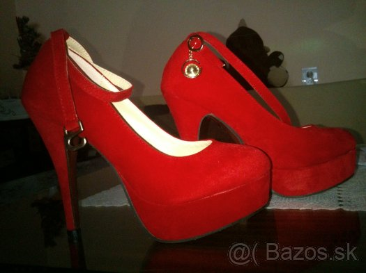 1ca857af49236 Červené lodičky - Dámska obuv - bazar - MAXbazar.sk