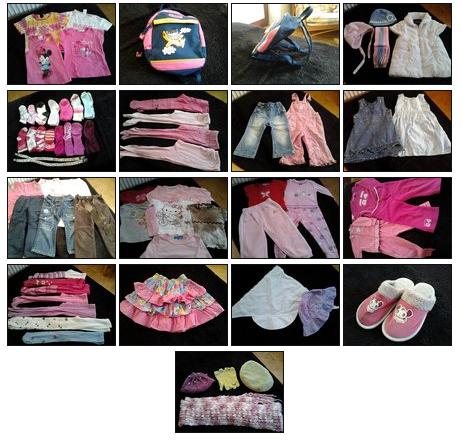 94addd33071b Predám Balik oblečenia (71ks) pre dievčatko od 12mesiacov - Komplety ...