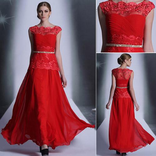 Plesové spoločenské šaty - červená - Dámske oblečenie 7773826b52b
