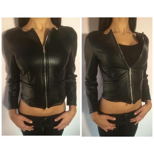 10147c738d07 Dámska bunda koženka čierna - Dámske oblečenie - bazar - MAXbazar.sk