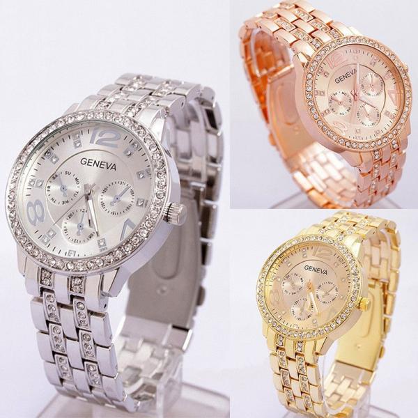 Luxusné dámske hodinky zn. Geneva - Ostatné oblečenie 62d70f3ffef