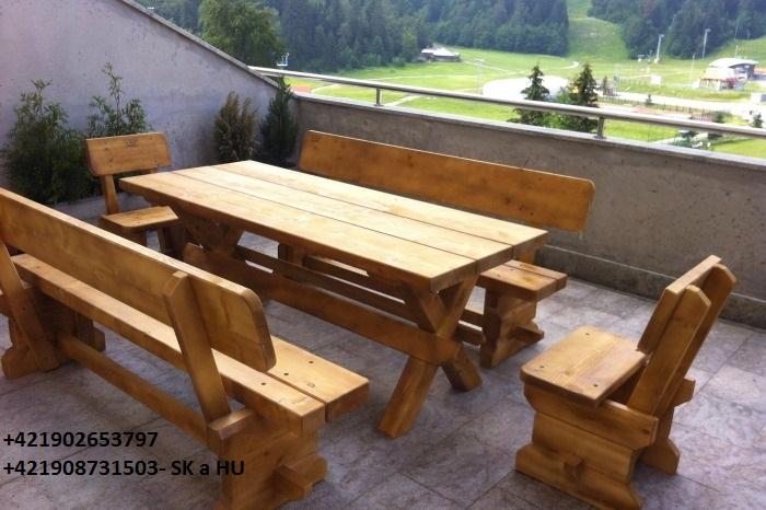 6f82fda00a822 predam stoly, lavice a altánky z masívneho dreva - Záhradný nábytok ...